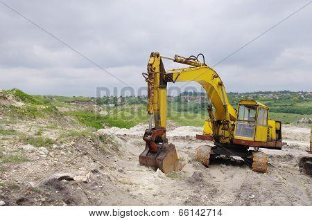Excavator In Sand Quarry