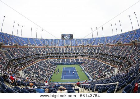Arthur Ashe Stadium during US Open 2013 at Billie Jean King National Tennis Center