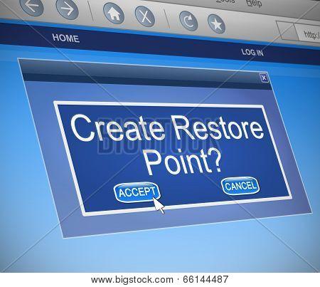 Restore Point Concept.