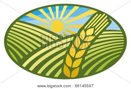 Farming Wheat Symbol