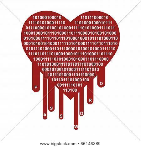 Openssl Heartbleed Security Breach Symbol