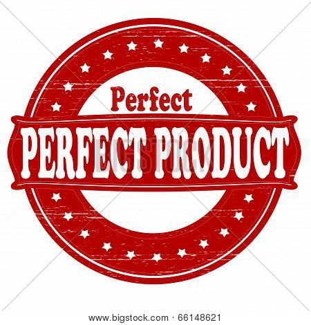 Stamp with text perfect product insidevector illustration