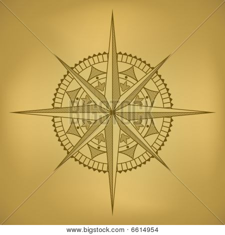 Old-styled wind rose
