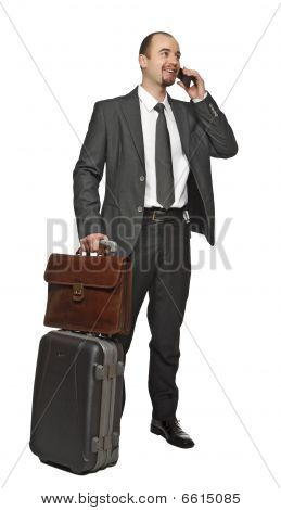 Isolated Businessman Standing