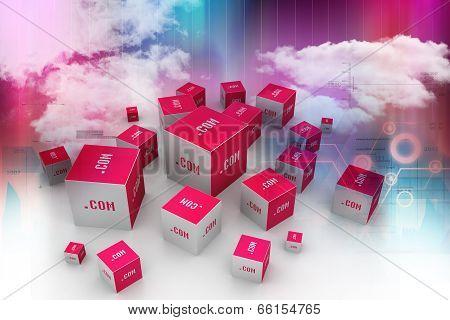 Dot com domain in cubes