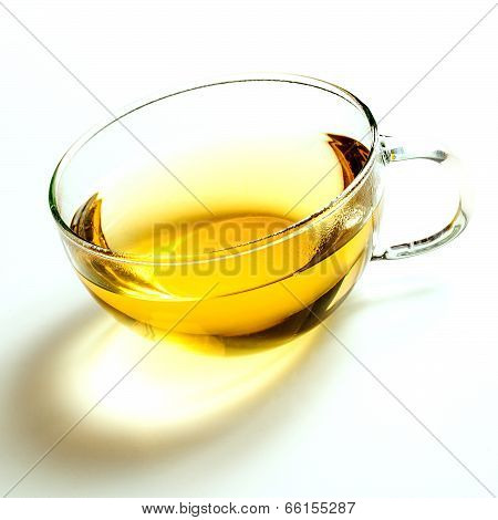 Glass Cup Of Green Tea