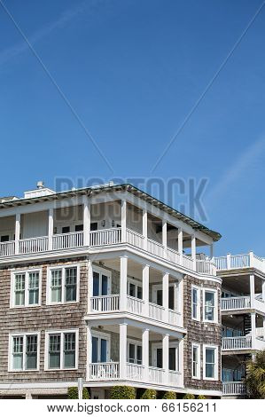 Four Story Beach Homes With Wood Siding