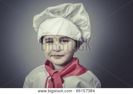 joy child dress funny chef, cooking utensils