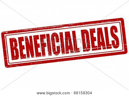 Stamp with text beneficial deals inside vector illustration