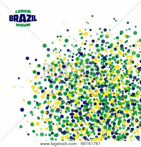 Abstract dot background using Brazil flag colors