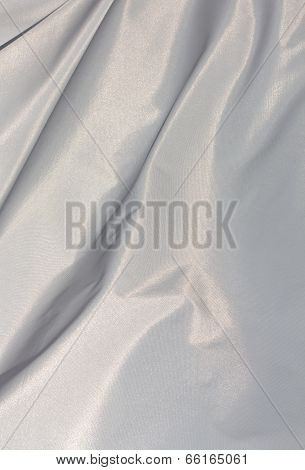 White Sunlit Fabric In The Wind