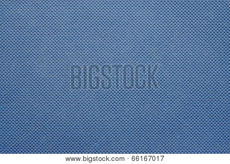 Texture Of A Synthetic Grid Blue Color