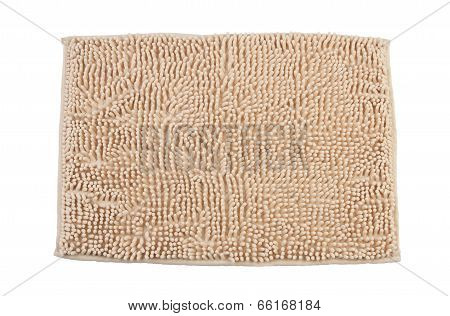 Beige carpet or doormat