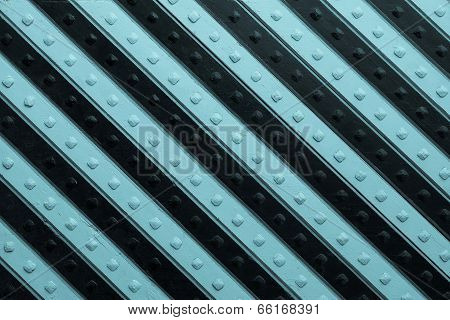 Panel With  Black Blue Slanting Striped Pattern
