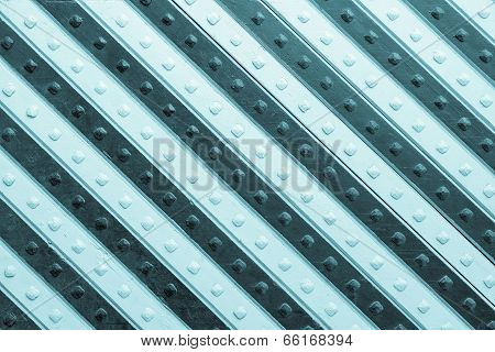 Panel With Azure Gray Slanting Striped Pattern