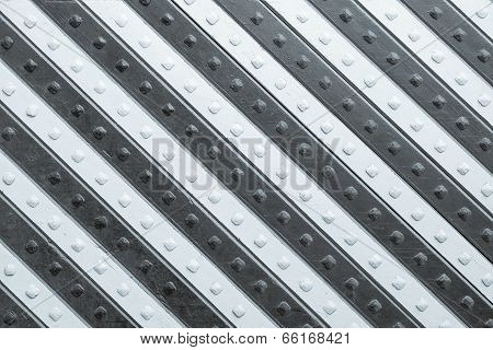 Panel With Silvery White Slanting Striped Pattern