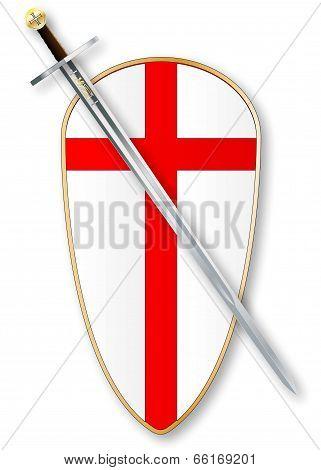 Crusaders Shield And Sword