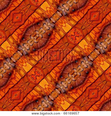 Beautiful Brown Background Pattern Made Of Common Commander Butterfly Wing Skin