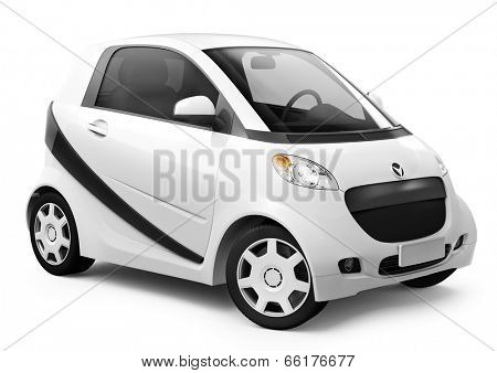 White smart 3D car
