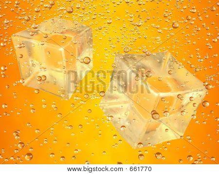 Ice Cubes Orange