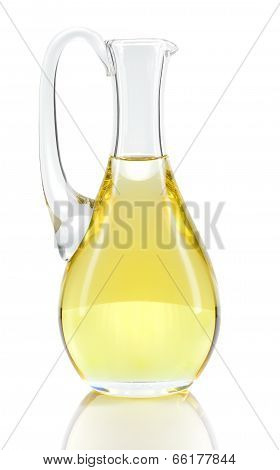 Rapeseed Oil Isolated Over White.