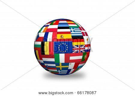 Europian Union   Countries Flags
