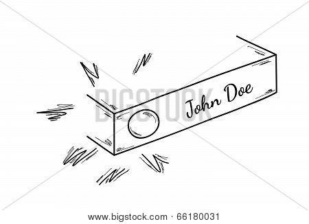 Sketch Of The Doorbell