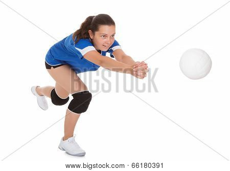 Portrait Of Female Volleyball Player