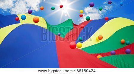 Multicoloured Balls In The Sky
