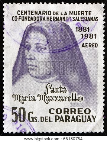 Postage Stamp Paraguay 1981 Mother Maria Mazzarello