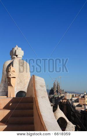 Sagrada Familia From La Pedrera