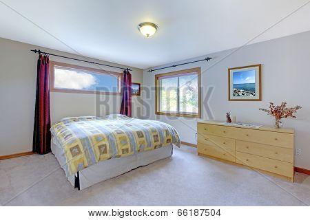 Soft Color Bedroom Interior