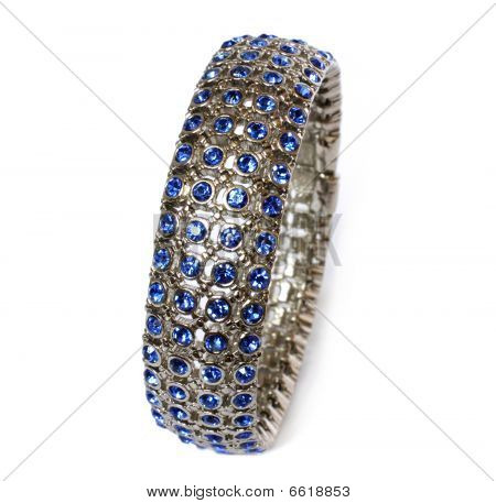 Bracelet With Blue Crystals