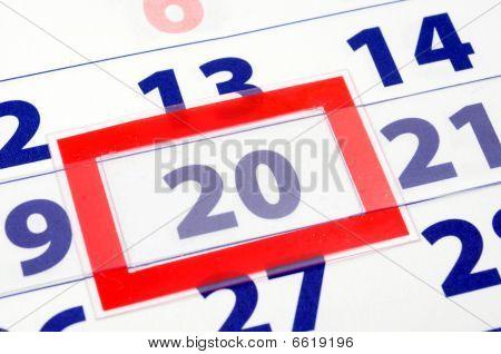 Día 20 calendario