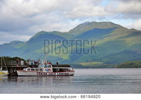 Boat cruise on Loch Lomond, Scotland, United Kingdom