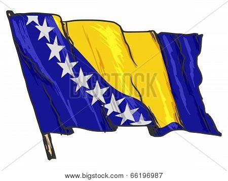 Flag Of Bosnia