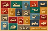 image of cabs  - Icons of various means of transportation - JPG