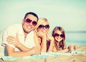 pic of children beach  - summer holidays - JPG