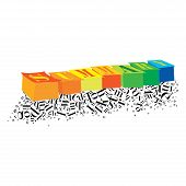 pic of summary  - An abstract illustration of Summary on a white background - JPG