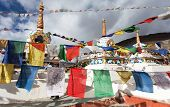 foto of himachal pradesh  - Prayer flags with stupas  - JPG