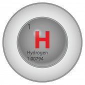 picture of hydrogen  - hydrogen button - JPG