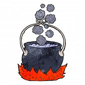 foto of witches cauldron  - cartoon witch - JPG