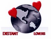 picture of long distance relationship  - A Illustration representing long distance relationships - JPG