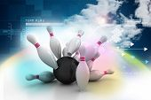 picture of boll  - 3d rendered Boll and dart in color background - JPG