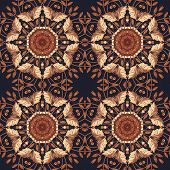 stock photo of marquetry  - Abstract artistic pattern - JPG
