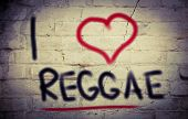 image of reggae  - Concept Handwritten With Chalk - Color Image.