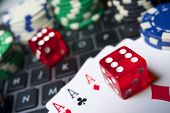 stock photo of gambler  - Casino chips - JPG