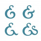 stock photo of ampersand  - Custom ampersand collection - JPG