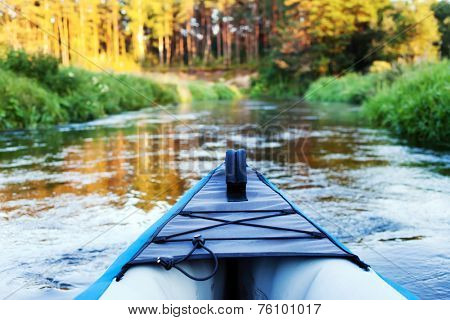 kayak on a small river