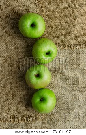 Green Apples In A Row